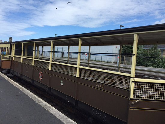 Aberystwyth, UK: Open carriages, be prepared to be covered in soot!