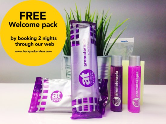 Backpackers BCN Casanova: Welcome Pack