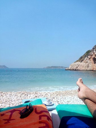Kaşın en güzel plajı ve plaj tesisleri - Büyük Çakıl ...
