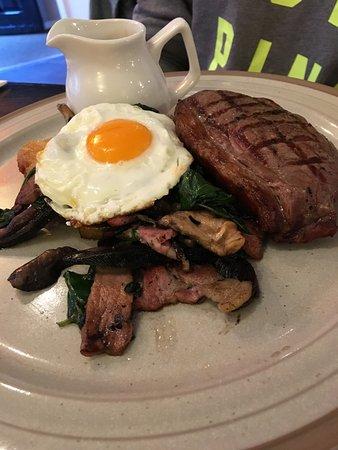 St Ives, UK: Steak!