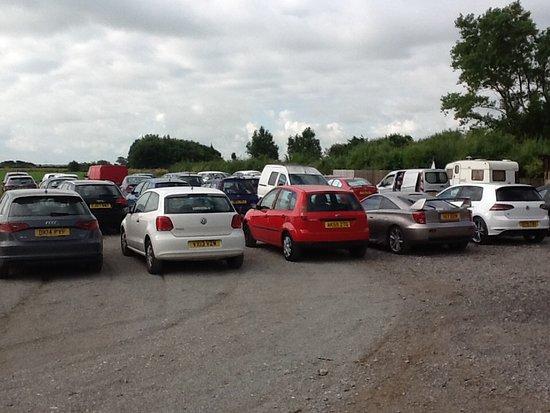 Cockerham, UK: Top car park first day