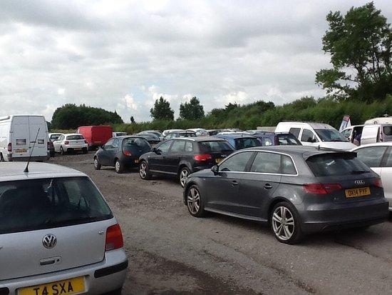 Cockerham, UK: Top carpark
