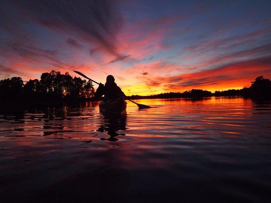 Oxelosund, Svezia: Beautiful Sunset in Oxelösunds Archipelago
