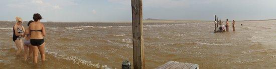 Akhtubinsk, Rússia: Панорама дальнего пляжа