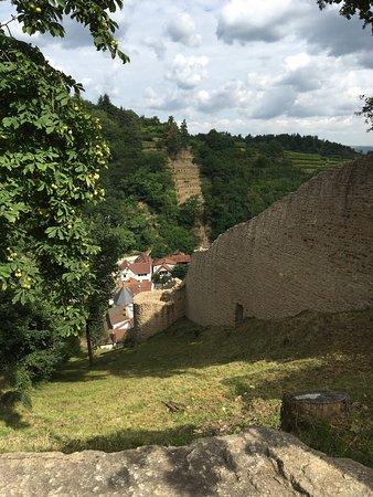 Wachenheim an der Weinstrasse, Γερμανία: Toller Ausblick, klasse Burg
