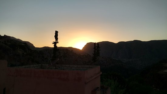 Riad Cascades d'Ouzoud : Sunset from the roof terrace