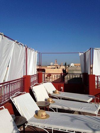 Riad La Cigale: terrazzo