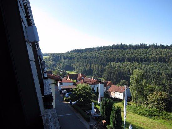 Rothenberg, Γερμανία: Prachtig uitzicht vanaf het balkon