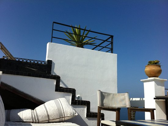 vue de la terrasse picture of hotel nord pinus tanger. Black Bedroom Furniture Sets. Home Design Ideas