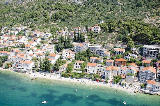 Brist, Croacia: Coast from above