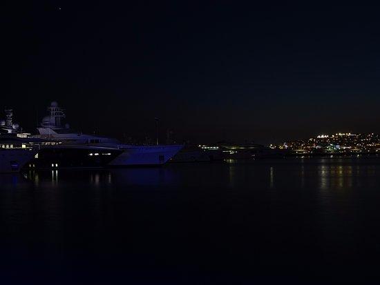 Flisvos Marina at night