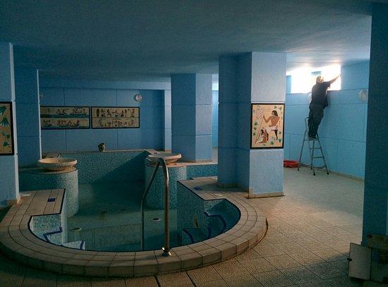 Topaz Hotel Works In Progress Maintenance On Indoor Pool