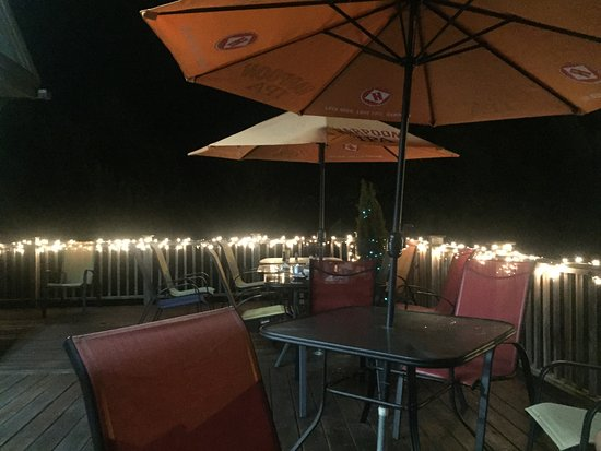 JAX Food & Games : Deck seating in the Summer