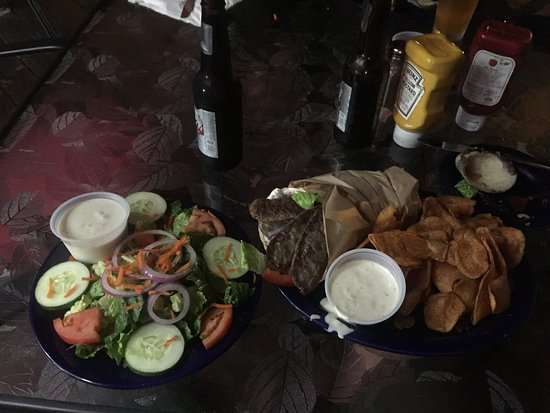 JAX Food & Games : Dinner Salad and Gyro and Chips