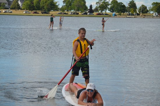 Escanaba, MI: Mom and our 14 year old, Trevor.