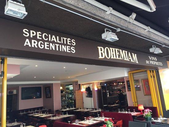 Bohemiam Restaurant: La salade du jour est passée près de moi, complète pour faire un plat et bien garnie pour ne fai