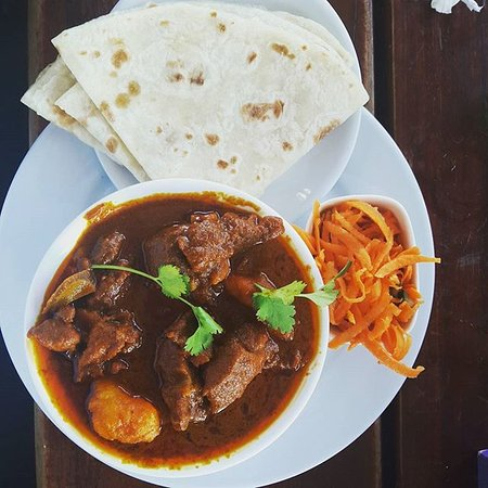 Hollywoodbets mutton curry and roti picture of for Roti food bar