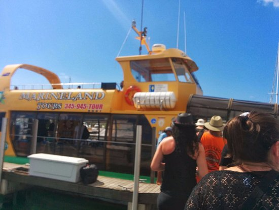 George Town, Grand Cayman: This is the boat that takes us to the sandbar