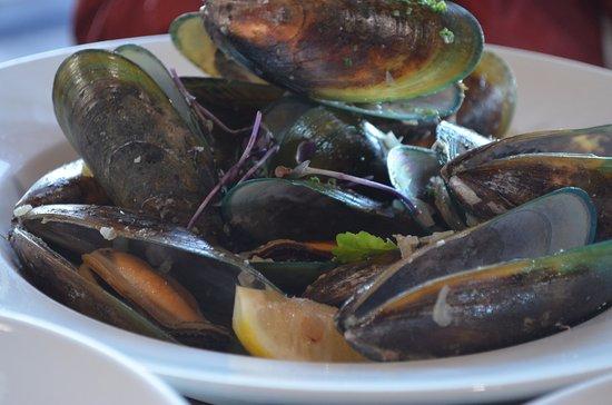 Kaiteriteri, Nueva Zelanda: the muscle is fresh and taste good!