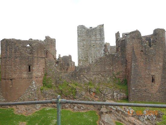 Goodrich, UK: castle from the approach bridge