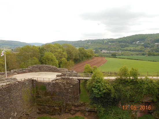 Goodrich, UK: view across the Wye Valley
