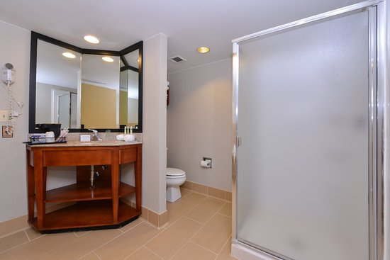 Crestwood, IL: Enjoy a shower in the whirlpool guest room