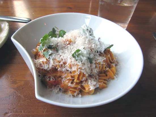 Yardley, PA: Smoked Radiatori Pasta w/ Butternuit Bolognese Sauce