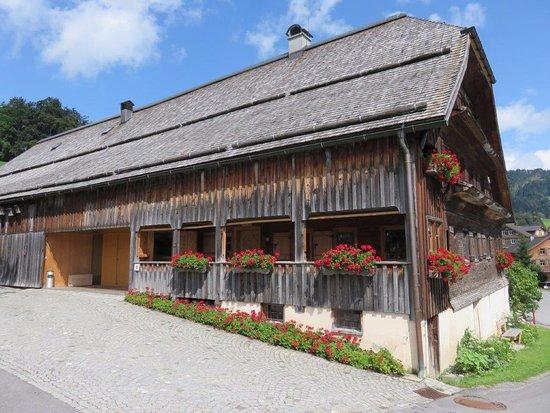Schwarzenberg, Østrig: Buitenkant van het Angelika Kauffmann Museum (binnen mag je niet fotograferen.