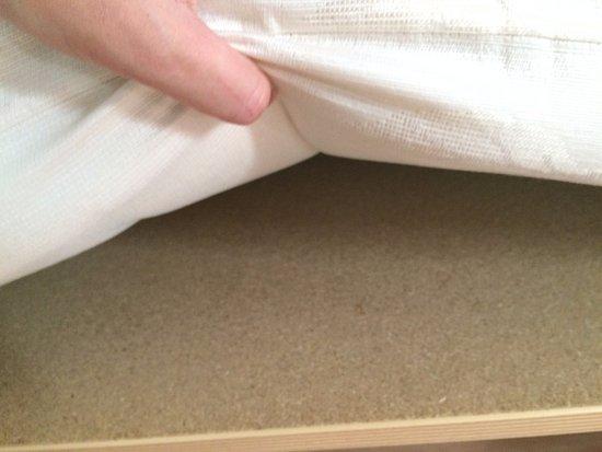 Ibis Budget Honfleur: planche de bois sous le matelas