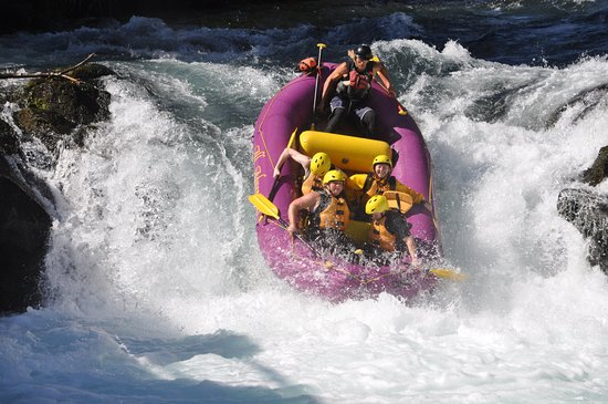 All Adventures Rafting Day Trips: Midway down Husum Falls. Unbelievable experience to complete with all rafters in tact!