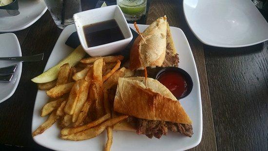 Williamsburg, MI: Prime rib sandwich