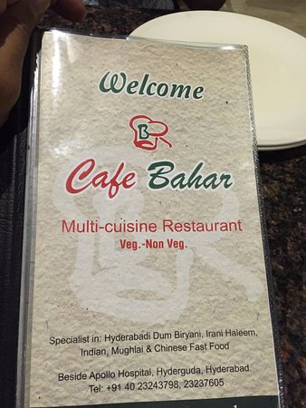 Cafe Bahar & Restaurant: The best Biryani in the world !!