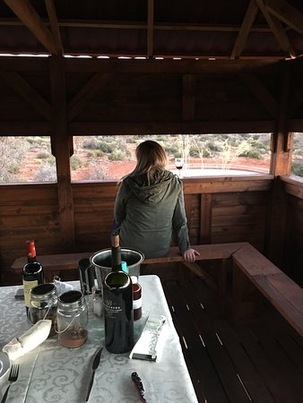 Kuruman, Sydafrika: fine wine and a awesome view