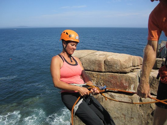 Atlantic Climbing School: This is my wife Karla.
