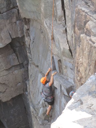 Atlantic Climbing School: This is my son Zachariah.