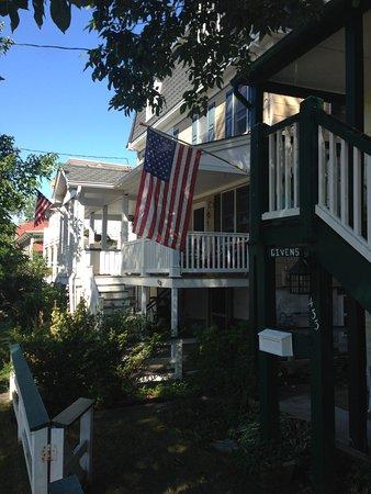 Ocean City Mansion: Across the street, so you get an idea of how nice the neighborhood id
