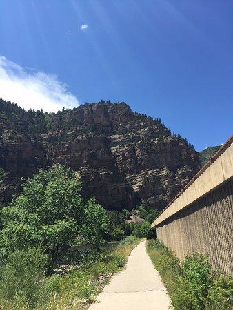 Glenwood Canyon Bike Trail: View of bike trail