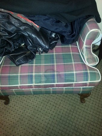 Weatherford Hotel: the chair followed the theme of the room, dirty