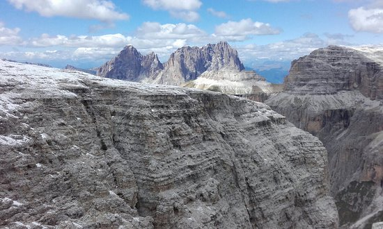 panorama sass pordoi - Picture of La Terrazza delle Dolomiti ...