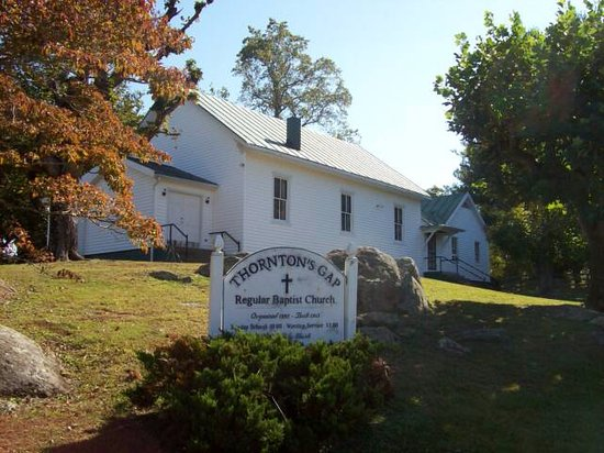Thornton's Gap Regular Baptist Church - Sperryville, Va    Small, Historic, Welcoming