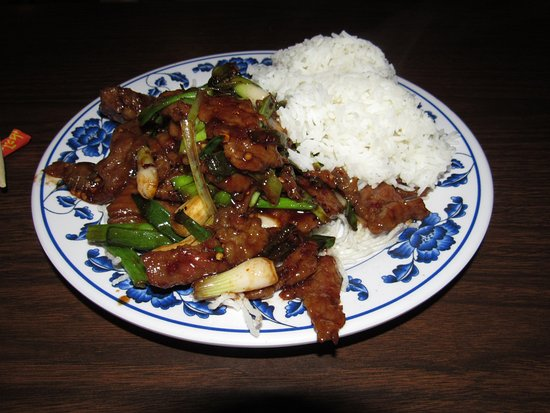 Mongolian Beef With White Rice Picture Of Great Village