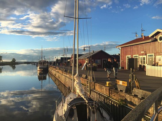 Uppsala County, İsveç: Harbour at Vänern