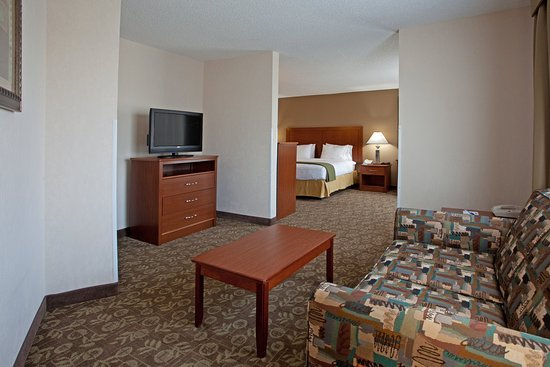 Holiday Inn Express Chapel Hill: Separate Seating Area with a Slepper sofa - King Suite