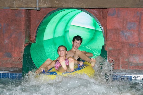 Elk River, Μινεσότα: Wild Woods Water Park  Giant Slide