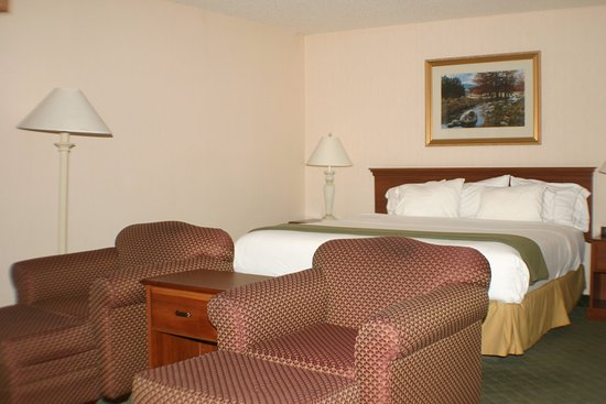 Holiday Inn Express & Suites Ex I-71/ Oh. State Fair/Expo Center: Our whirl pool suite has bed, sitting area and a relaxing tub.