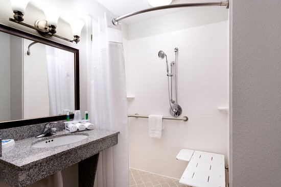 Arcadia, FL: ADA/Handicapped accessible Guest Bathroom with roll-in shower