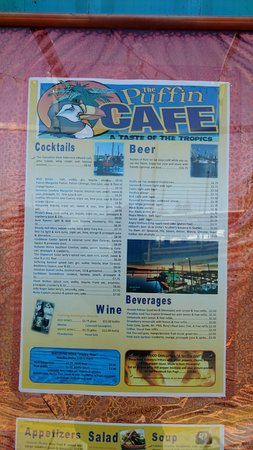 Washougal, Etat de Washington : The menu page 1 of 2