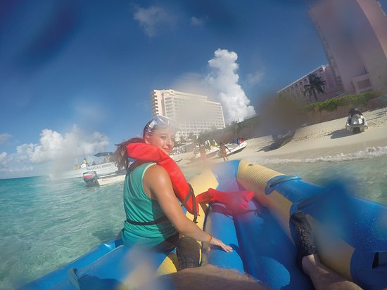 My Own Water Sports: Just finished the banana boat ride. It was too crazy to take a pic while we were moving!