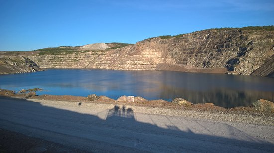 Thetford Mines, Kanada: ancienne mines d amiante a ciel ouvert