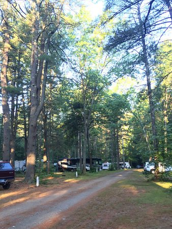 Exeter, Nueva Hampshire: A section of the campsite